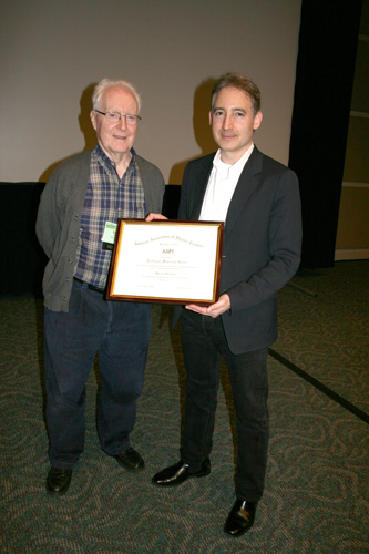 David Cooks presents the 2012 Richtmyer Award to Brian Greene