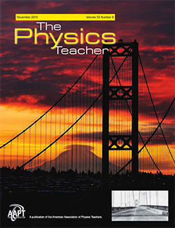 Physics Teacher magazine cover bridge