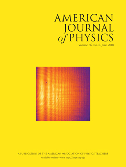 June 2018 issue of American Journal of Physics