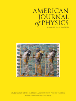 American Journal of Physics April 2020