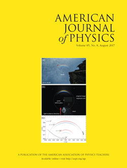 American Journal of Physics, August 2017