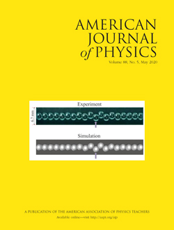 May 2020 issue of the American Journal of Physics