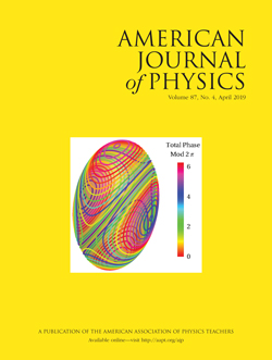 April 2019 Issue of American Journal of Physics