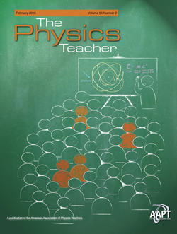 February 2015 cover of The Physics Teacher