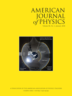 January 2018 Issue of American Journal of Physics