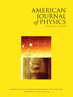June 2016 issue, American Journal of Physics