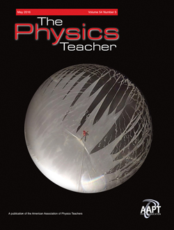 May 2016 issue, The Physics Teacher