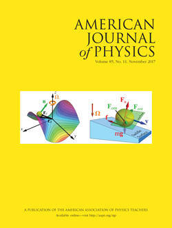 November 2017 issue of American Journal of Physics