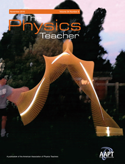 November 2016 issue of The Physics Teacher