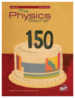 December 2019 issue of The Physics Teacher