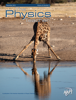 December 2015 issue of The Physics Teacher