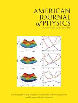 December 2016 issue of the American Journal of Physics