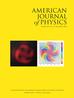 American Journal of Physics November 2016 issue