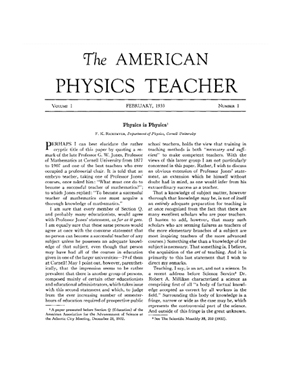 Early edition of the American Journal of Physics.
